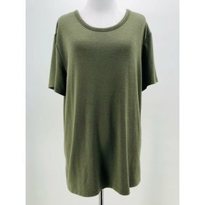 Wilfred Free Green Short Sleeve Blouse Size Large